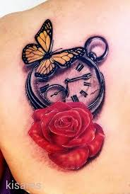 100 clock with roses tattoo clock tattoo ideas 4 best