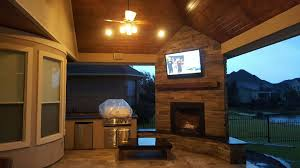 Outdoor Fireplace Houston by Page 2 Of 9 Outdoor Living Space Design