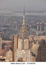 top of chrysler building an art deco style skyscraper by architect
