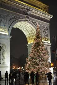 annual tree lighting ceremony washington square park