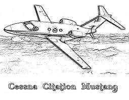 cessna citation mustang airplane coloring cessna citation