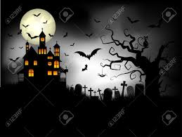 halloween background images halloween background with spooky house against a moonlit sky