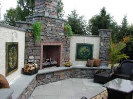outdoor fireplace in blue bell lansdale collegeville ambler