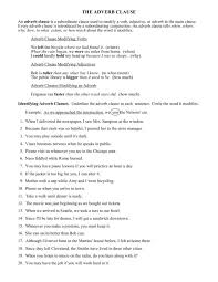 clauses worksheet free worksheets library download and print