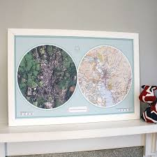 Double Map Personalised Double Map By Thelittleboysroom Notonthehighstreet Com
