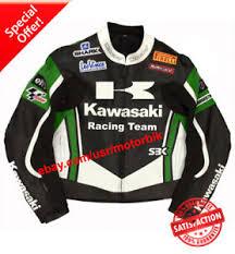 motorcycle racing jacket suzuki kawasaki leather motorcycle racing jacket ebay