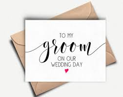 Card For Groom From Bride Husband Wedding Card Etsy Ie