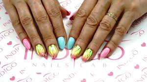 nail art inspiration summer neon ombre youtube