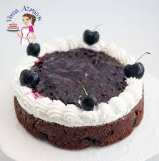 moist chocolate cherry cake recipe veena azmanov