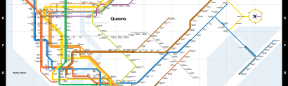 Subway Map Queens by Remembering Massimo Vignelli 1931 2014 Cooper Hewitt Smithsonian