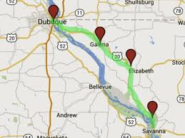 wisconsin scenic drives map great river road galena and dubuque scenic pathways