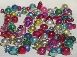 tiny mercury glass balls antique feather tree ornaments