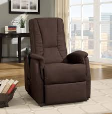 Lift Chair Leather Dark Brown Fabric Power Lift Chair Recliners
