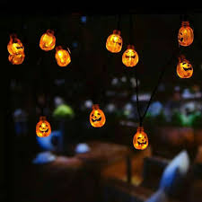 3m 30 led waterproof solar powered pumpkin string lights halloween