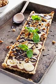 banana and chocolate nutella custard tarts the charming detroiter
