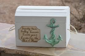 nautical wedding party beach wedding card box anchor wedding reception card box
