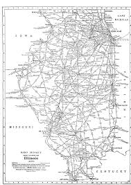 Chicago Trains Map by P Fmsig 1948 U S Railroad Atlas