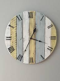 Wood Clock Mesmerizing Large Rustic Wall Clock 43 Diy Large Rustic Wall Clock