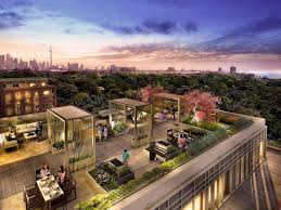 rooftop patios rendering of rooftop patio amenity area at highpark condos image