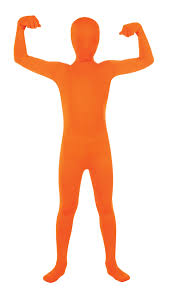 orange 2nd skin suit morphsuit