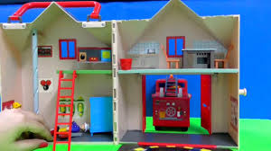 fireman sam fire station jupiter fire truck engine toys unboxing