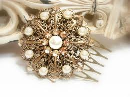 antique hair combs bridal hair comb antique gold headpiece vintage style hair comb