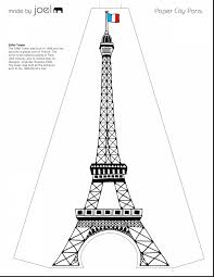 beautiful eiffel tower template with eiffel tower coloring page