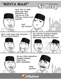 Meme Herp - serial komik meme si herp special lebaran minta maaf ayo
