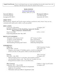 Sample Resume Objectives No Experience by Sample Resume For Retail Resume For Your Job Application