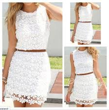 white floral hollow out bodycon hip short package crochet