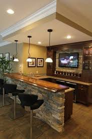 home bar decor with black stools and small pendant lighting and tv home bar decor with black stools and small pendant lighting and tv pertaining to home bar