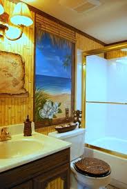themed bathroom ideas tropical themed bathroom ideas themed mural by tom of wow