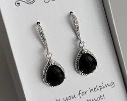 black drop earrings black drop earrings etsy