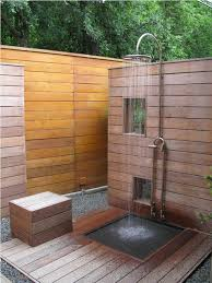 Outdoor Shower Ideas the useful ideas of teak outdoor shower for your houses