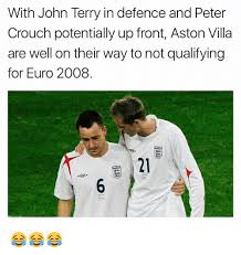 Peter Crouch Meme - with john terry in defence and peter crouch potentially up front