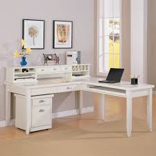 White Office Desk With Hutch L Shaped Desk With Hutch Ikea Varidesk Starting At 175 00
