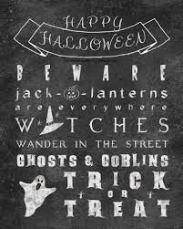 printable halloween chalkboard poem while he was napping