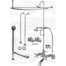 Shower Faucet For Clawfoot Tub Chrome Clawfoot Tub Faucet Package U2013 Faucet Oval Shower Enclosure