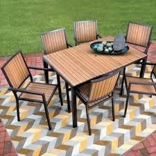 Aluminum Patio Dining Table Aluminum Patio Dining Table Faux Wood Aluminum Outdoor Furniture