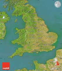 Map England by Satellite Map Of England