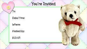 teddy bear invitations free printable fill in invitations