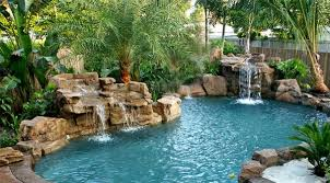 Waterfall In Backyard 15 Pool Waterfalls Ideas For Your Outdoor Space Home Design Lover