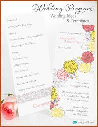 wedding programs exles wedding programs exles sop exle
