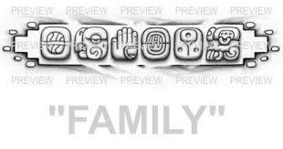 family mayan glyphs design c aztec tattoos aztec