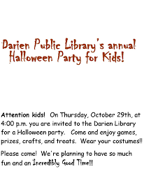 public halloween party halloween party 2015 flyer darien public library