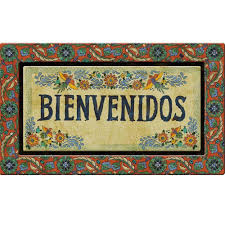Recycled Rubber Tiles Home Depot by Apache Mills Bienvenidos 18 In X 30 In Recycled Rubber Door Mat