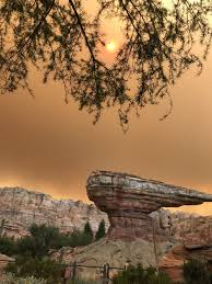 California Wildfires San Diego by Disneyland Takes On Eerie Orange Glow Amid Southern California