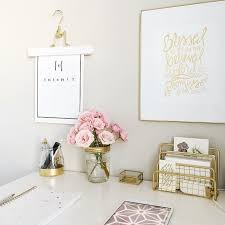 white and gold office desk gorgeous inspiration girly office desk accessories best 25 ideas on