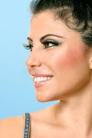 hair i woman s chin sideways beautiful woman face looking sideways stock photo image of