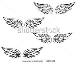 tattoo angel simple collection of 25 simple wings tattoo design